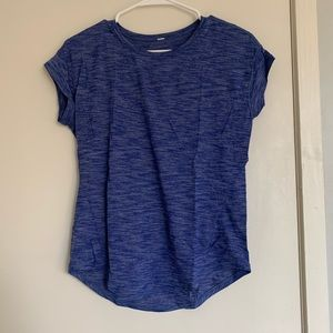 Lululemon blue short sleeve with silverscent 6